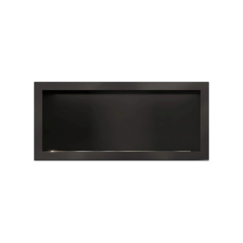 Icon Slimline Firebox 1350 Complete with 1100 Burner Black (SLIMFB1350B)